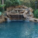 Renovation decorative pool waterfall in Conroe, TX