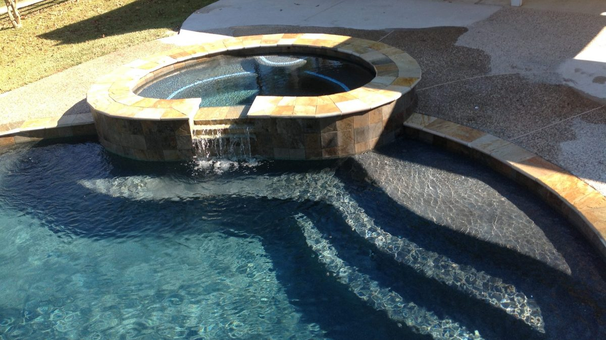 High angle pool picture