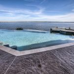 pool with jacuzzi
