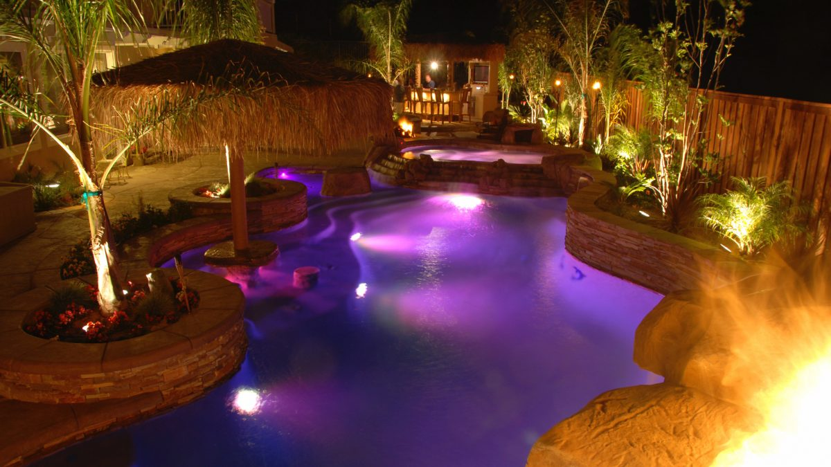 Installed LED lights in a pool. Conroe, TX