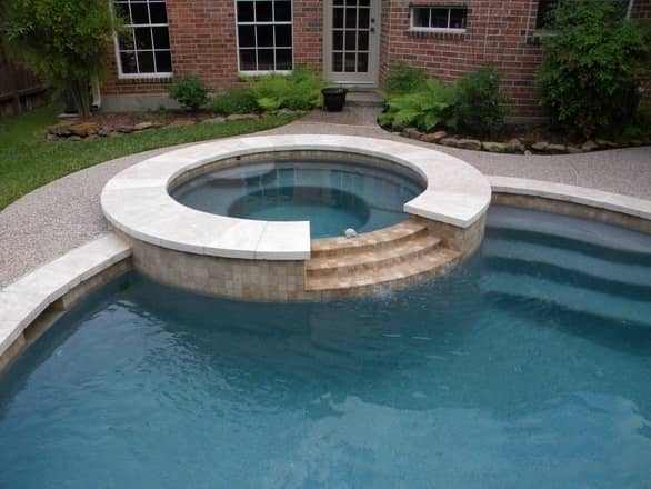 Pool Jacuzzi renovation after photo